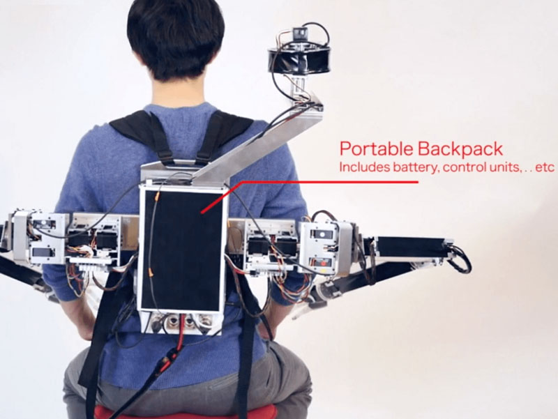 Robot Dua Tangan Ala Backpack
