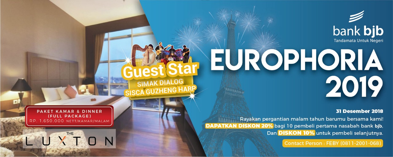 "bank bjb Proudly Present ""The Luxton Europhoria 2019"""